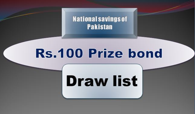 Winners list of Rs. 100 Prize bond Draw #26 15.05.2019 held Quetta Announced