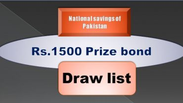 Winners list of Rs. 1500 Prize bond Draw #78 15.05.2019 held Multan Announced