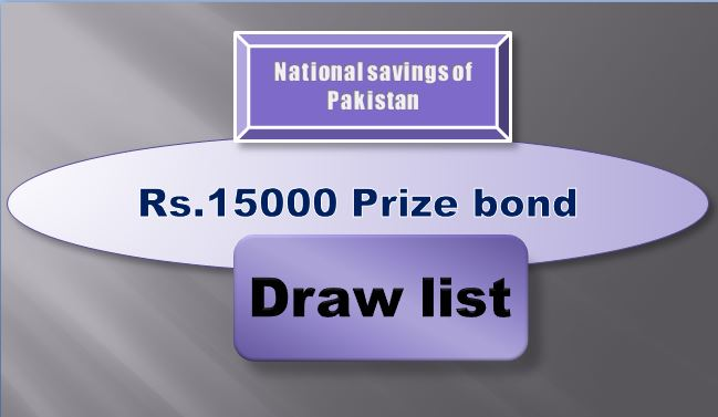 Winners list of Rs. 15000 Prize bond Draw #79 02.07.2019 held Faisalabad Announced