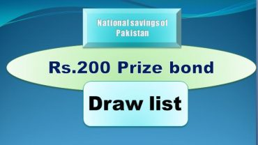 Winners list of Rs. 200 Prize bond Draw #78 17.06.2019