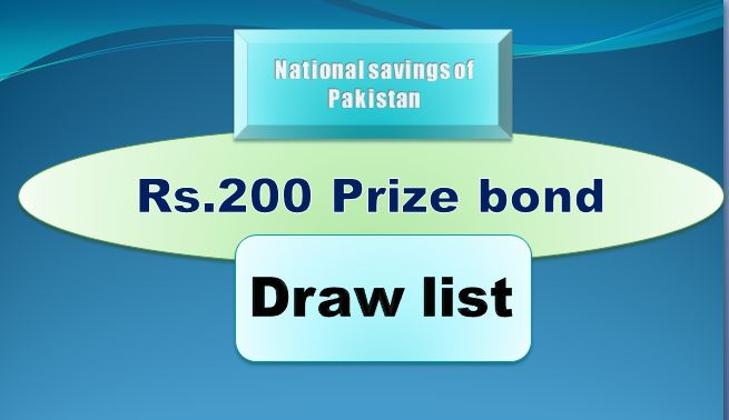 Winners list of Rs. 200 Prize bond Draw #77 15.03.2019 held Multan Announced