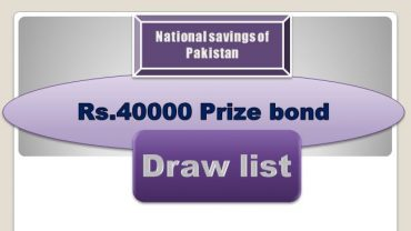 Winners list of Rs. 40000 Prize bond Draw #78 03.06.2019 held Faisalabad Announced