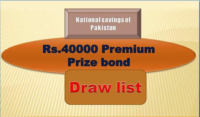 Winners list of Premium 40000 Prize bond Draw #08 11.03.2019 held Rawalpindi Announced