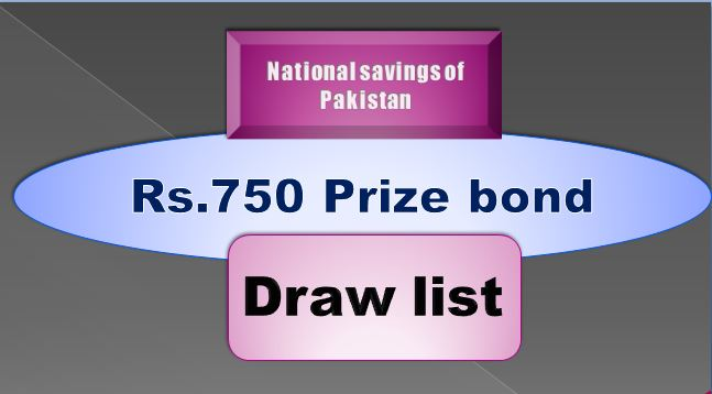 Winners list of Rs. 750 Prize bond Draw #79 15.07.2019 held Karachi Announced