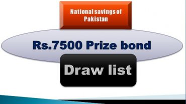 Winners list of Rs. 7500 Prize bond Draw #79 01.08.2019 held Quetta Announced