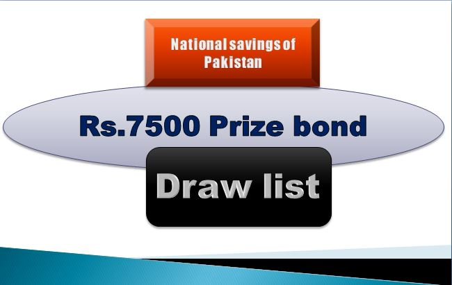 Winners list of Rs. 7500 Prize bond Draw #78 02.05.2019 held Hyderabad Announced