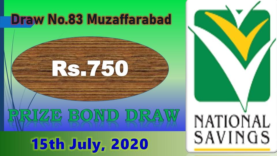 Rs. 750 Prize bond draw Result 02 July 2020