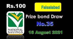 Rs. 100 Prize Bond List of Draw#35, Held in Faisalabad