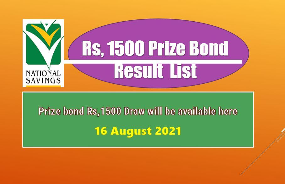 Rs. 1500 Prize Bond List Draw 87 Multan Result 16 August 2021